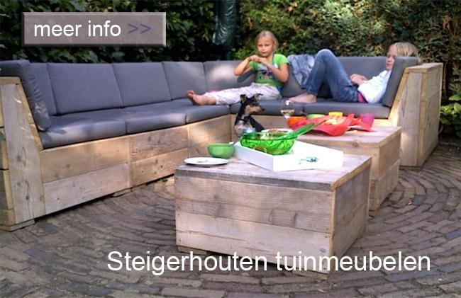 Scaffold Wood-steigerhouten lounge set garden-tuin