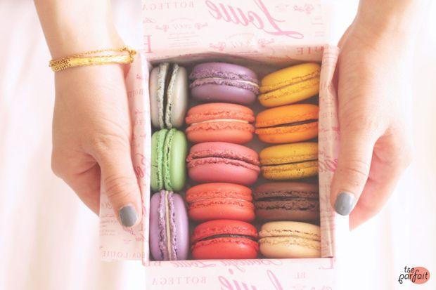 rainbow of #macarons :: Bottega Louie, Los Angeles