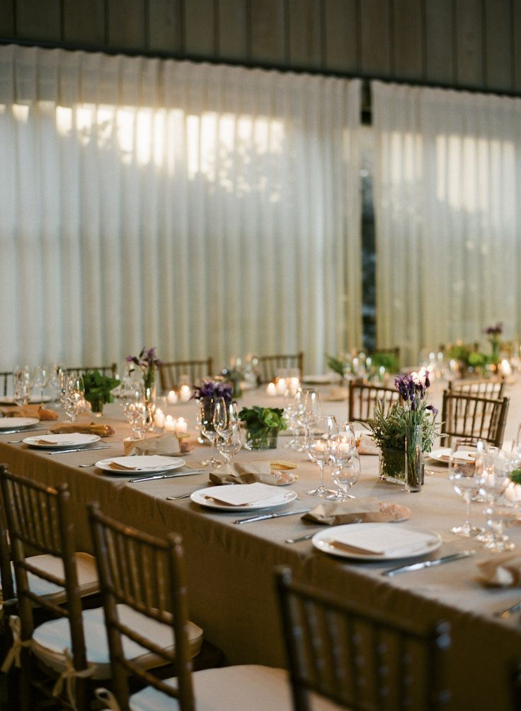 Lavender and Herbs make lovely rustic table decor Photography by Gia Canali / giacanali.com/wedding.php, Event Design and Production by Yifat Oren #lavender #herbs #rustic #centerpieces
