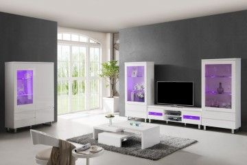 Woonkamer meubel Italiaanse design MDF Hoogglans wit 2