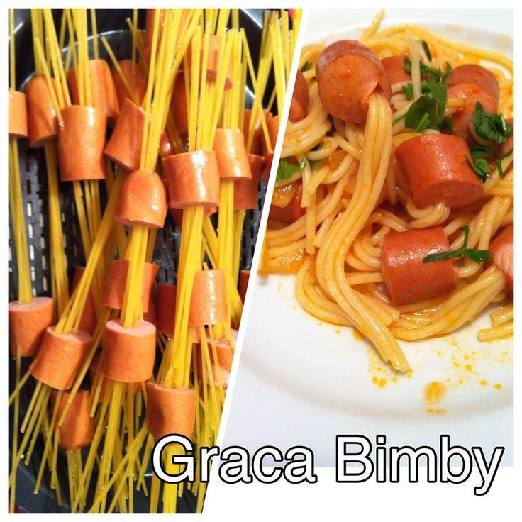 Bimby Truques & Dicas: Esparguete com salsichas
