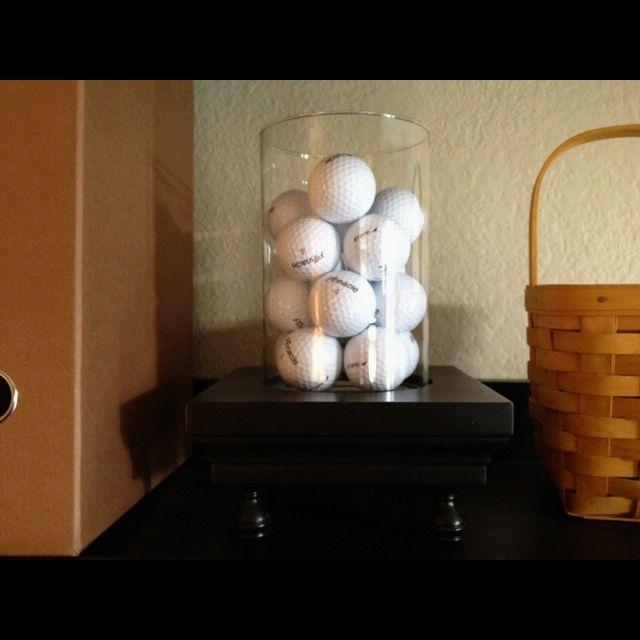 Elegant Office Golf Decor | Golf Ball Hurricane Decor Husbandu0027s Office/Game ... |
