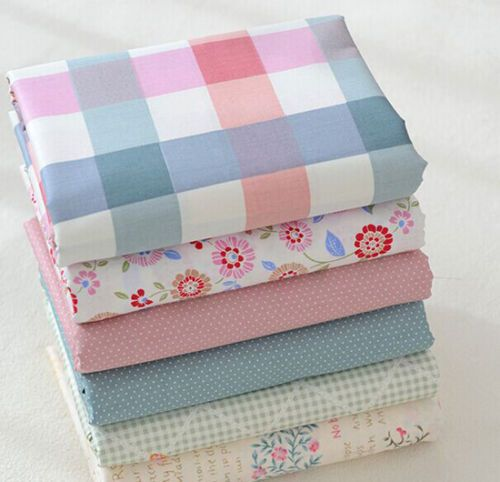 One-PCS-Cotton-Fabric-Pre-Cut-Cotton-cloth-Fabric-for-Sewing-6-Colour-S222