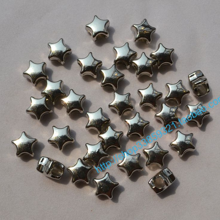Silver plated stars beads- BuyWithAgents