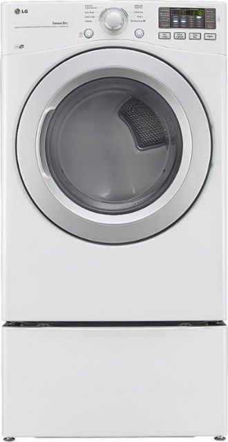 LG - 7.4 Cu. Ft. 8-Cycle Ultralarge-Capacity Smart Gas Dryer - White - Alt_View_Zoom_1