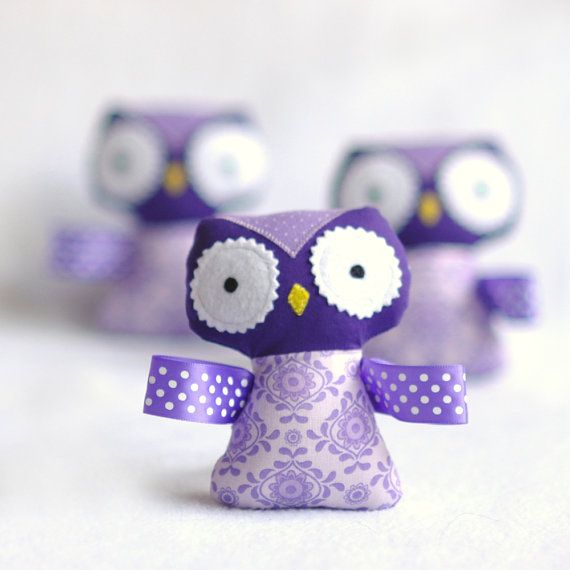 Stuffed Owl Baby Rattle by Squishy Bee