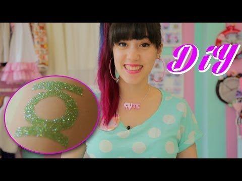DIY | Glitzer Tattoos - YouTube