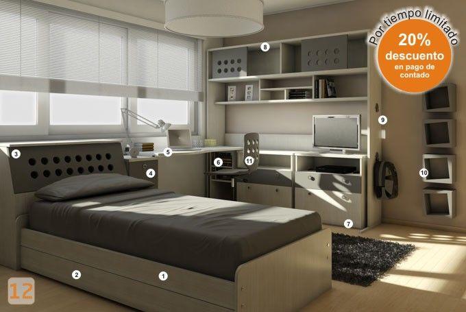 M s de 25 ideas fant sticas sobre dormitorios de j venes - Decoracion habitaciones juveniles nino ...