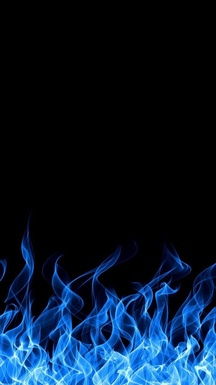 Blue Fire iPhone Wallpaper HD