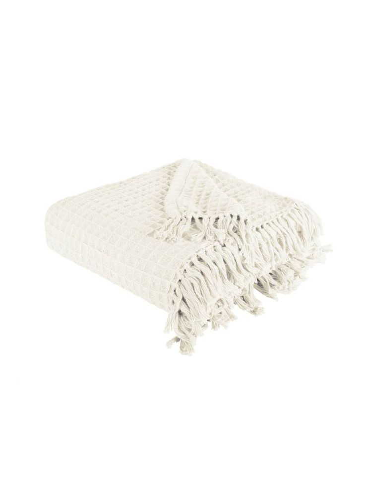 Linen House's Jetty Throw in White, available at Forty Winks.
