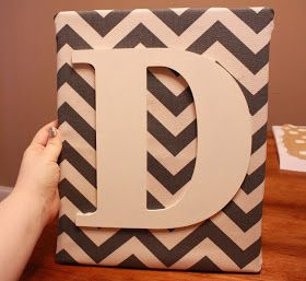 The Diary of a Real Housewife: Chevron Canvas Monogram