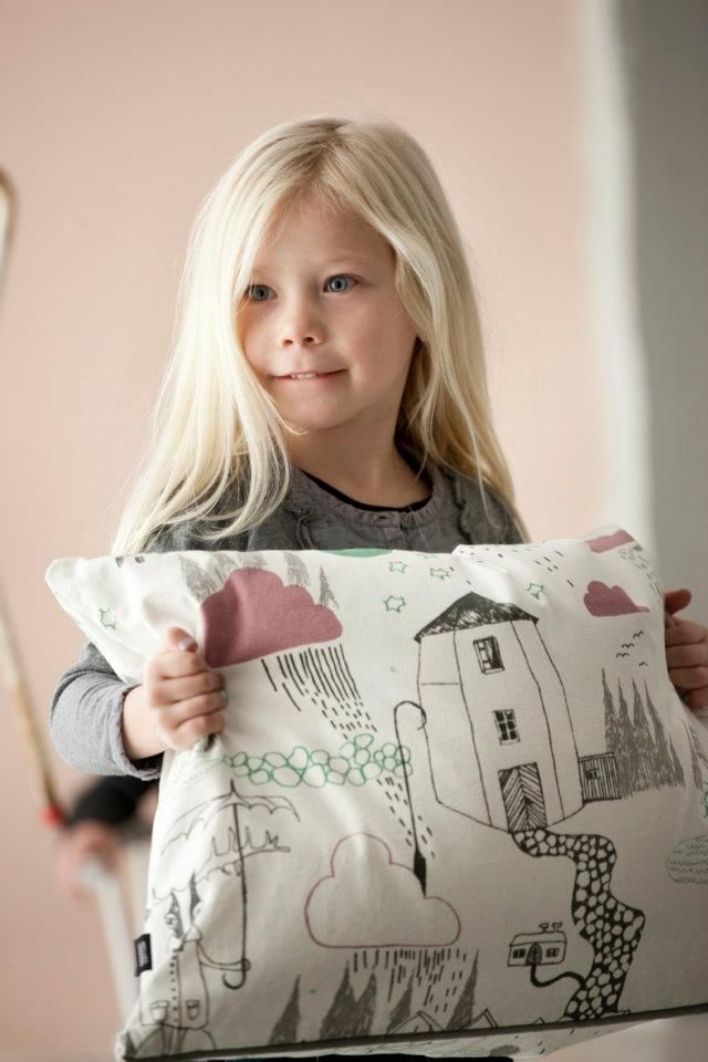 Ferm Living cushion(This is bedding you can buy, but wouldn't it be great to have your child use fabric markers or crayons and make a gift for Grandma?