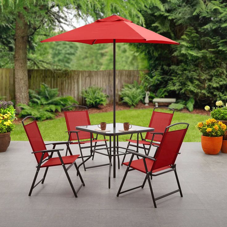 Item specifics    									 			Condition:  												 																	 															  															 															 																New: A brand-new, unused, unopened, undamaged item in its original packaging (where packaging is  																  																		... - #Furniture https://lastreviews.net/home/furniture/patio-6-piece-dining-set-outdoor-furniture-folding-table-chairs-umbrella-garden/