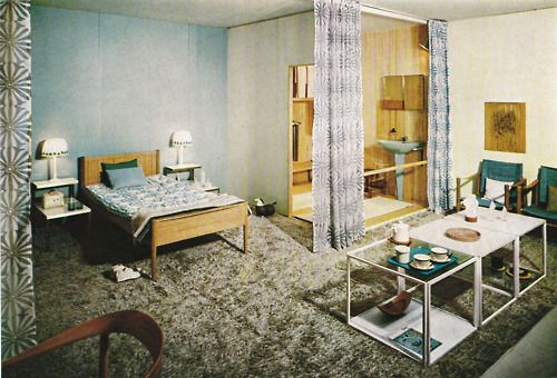 INTERIOR DESIGN BY ASTRID SAMPE / FURNITURE BY NORDISKA KOMPANIET    in:    GIULIO PELUZZI    THE MODERN ROOM, 1967