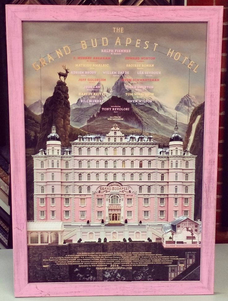 this the grand budapest hotel poster was framed using universal arquatis pink rustic line it suits this piece perfectly custom framed by fastframe of