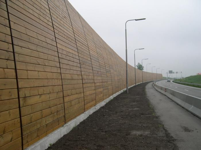 Timber Sound Barrier Wall Barrier Sound Walls Pinterest