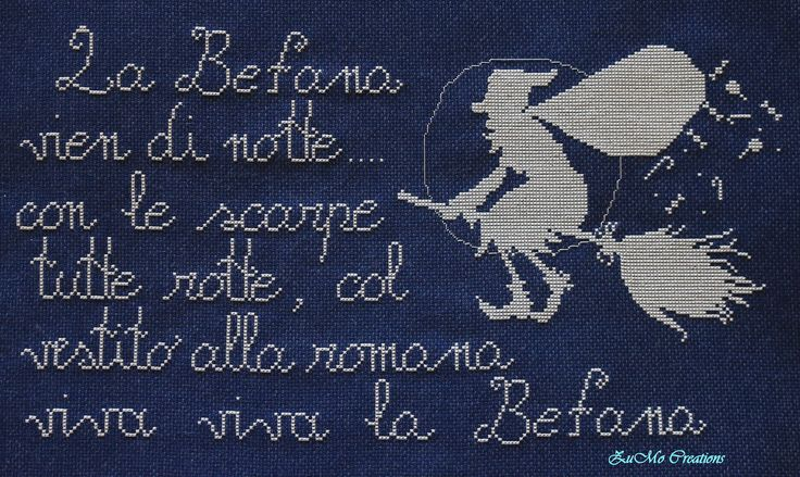 Happy Befana | cross stitch poster