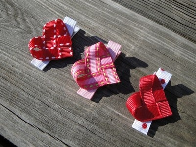 I love this cute heart hair clips.  (I'm making up for all those years with super short hair)