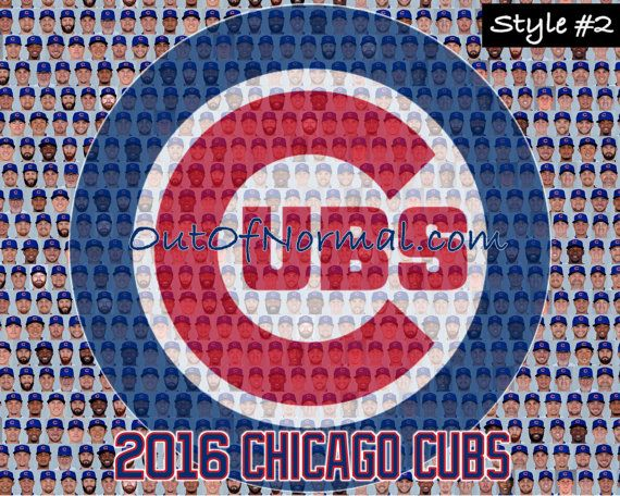 WORLD SERIES CHAMPIONS Chicago Cubs 2016 Team by OutOfNormal