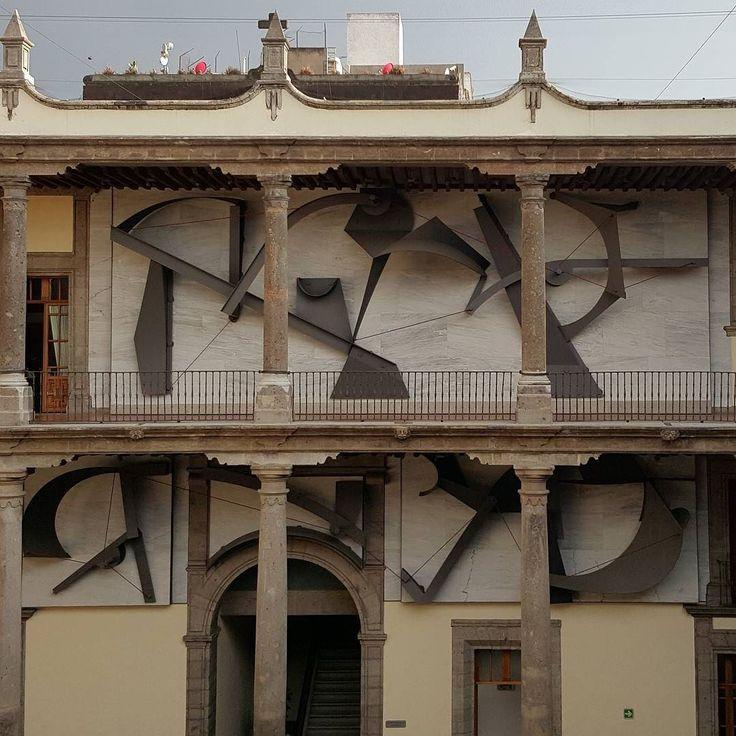 Manuel Felguérez - Ecuación en acero! #manuelfelguerez #arte #arte #mural #escultura #bgcpop