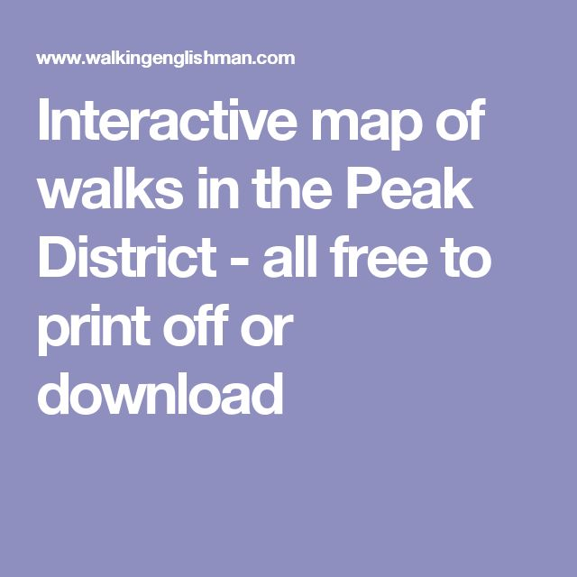 Interactive map of walks in the Peak District - all free to print off or download