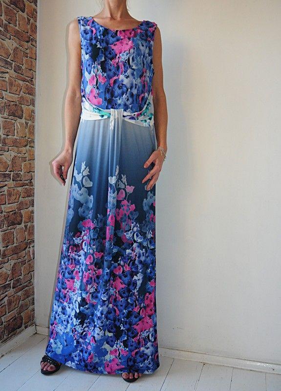 9dcd5fe380 BHS sukienka w kwiatki maxi r. 48 - Vinted