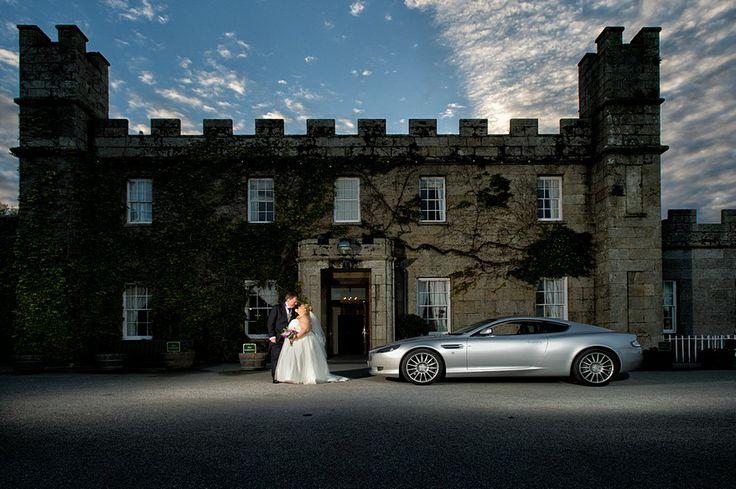 Aston Martin at a Tregenna Castle Wedding