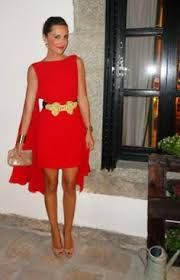 Resultado de imagen de vestido rojo boda