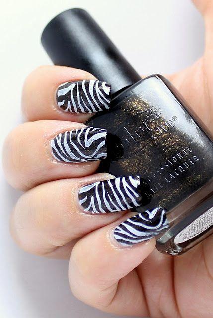 I always love zebra nails