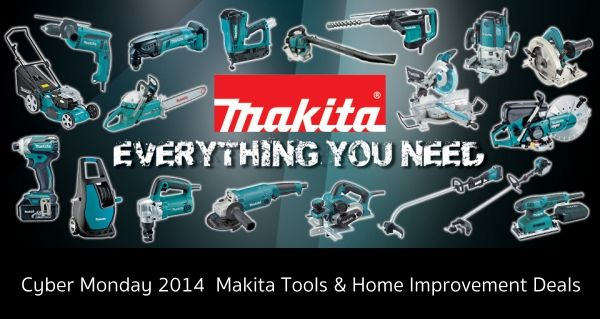 Black Friday & Cyber Monday 2014  #Makita Tools & Home Improvement Deals Preparing for Cyber Monday Makita Power tool 2014. Highlights from this year's circular include: (Saws, Sanders, Planers and more) see more http://www.999dbs.com/cyber-monday-power-tool-deals/
