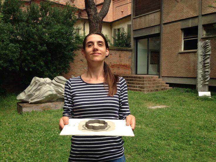 student proud of first ceramic print #3dprinter #mczfablab