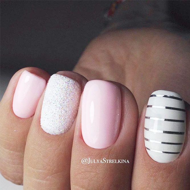 34 Pink And White Nails Trends For Spring And Summer 2020 With Images White Nail Designs White Nails White Nail Art