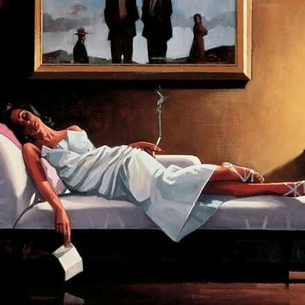 The letter 1 by Jack vettriano..