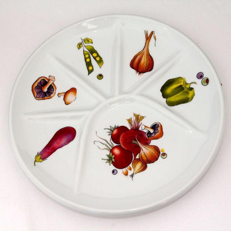 Berry Haute Porcelain Le Faune Cocktail Dish 9.5in Diam Appetizer HorsVintage