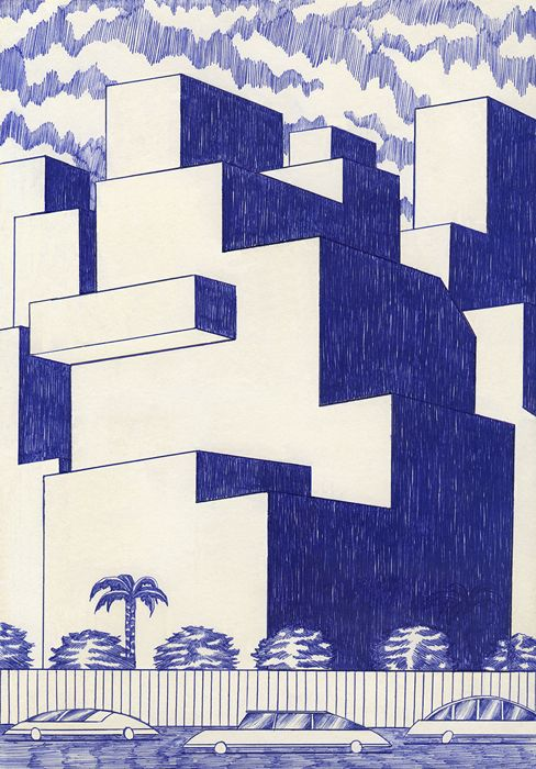 Blue lines, Kevin Lucbert