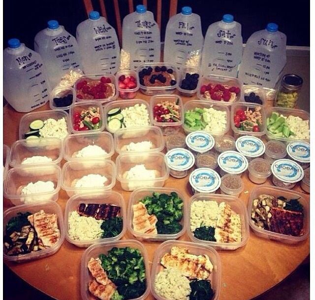 Weekly Food Prep. This is linked to eating healthy. Failing to plan is planning to fail...or something like that. Going 4 weeks strong and loving it #gamechanger