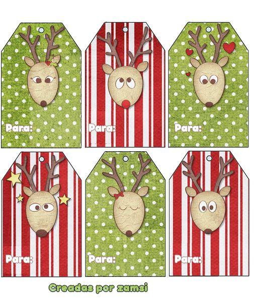 Etiquetas para los regalos de navidad. Descárgalas en http://zamsi.deviantart.com/#/d4kcv1x