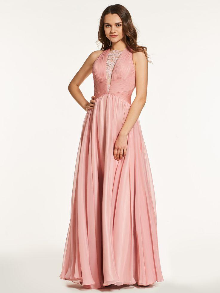 dusty pink dress , party dress