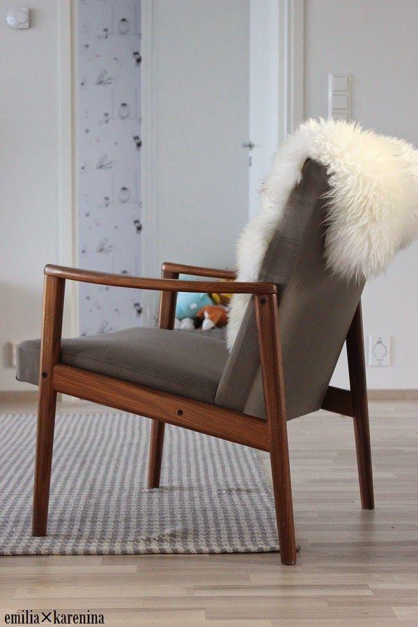Asko 50-luvun nojatuoli. (Emilia Karenina blogi kuva)