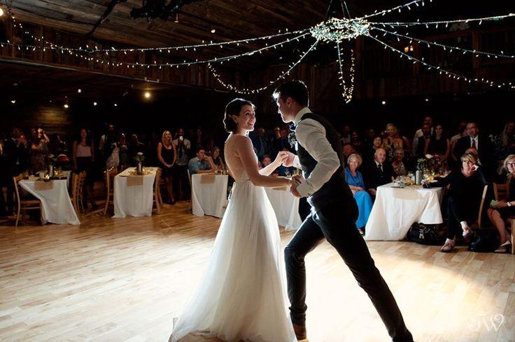 First dance at Cornerstone Theatre in Canmore | Rocky Mountain weddings | Calgary wedding photographer Tara Whittaker