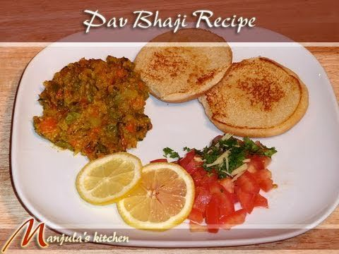 Pav Bhaji is a favorite fast food dish in India. Pav is buns and bhaji is the mixed spicy vegetables. This is a very popular dish with roadside vendors.   Recipe will serve 4.
