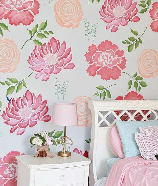 Chrysanthemum Zinnia Flowers Floral Wall Art Matt Vinyl Sticker Cupboard Decal