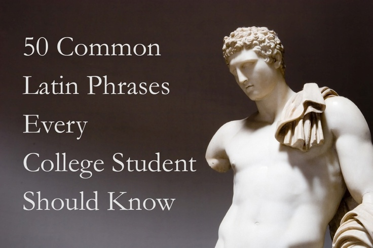 Common Latin phrases