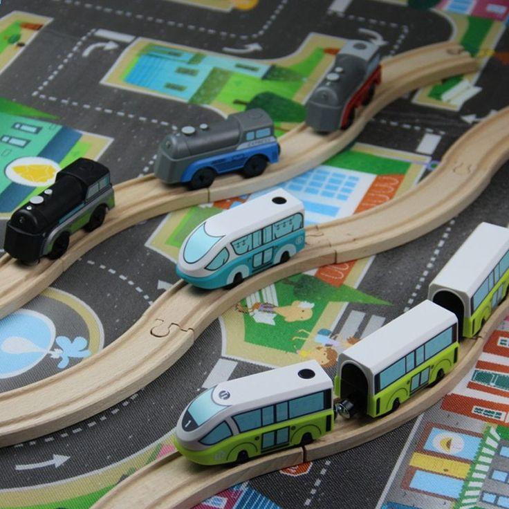 W131 Copii Jucării Electrice Pentru Trenuri Magnetic Slot