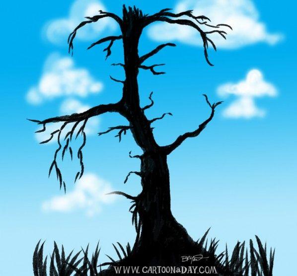 Дерево с лицами картинка тест