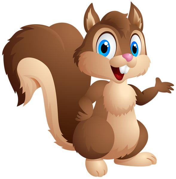 Cute Squirrel Cartoon PNG Clipart Image