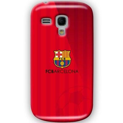 funda carcasa del fc barcelona en color rojo y rayas con escudo del barsa http://www.upaje.com/producto/funda-carcasa-samsung-galaxy-s3-mini-futbol-club-barcelona-rojo-b1/