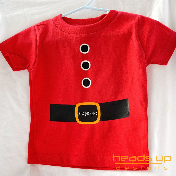 Christmas Santa Shirt Embellishment Sew On Fabric Diy