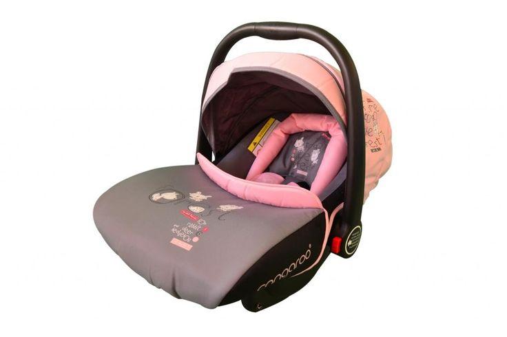 Cosuletul auto Cangaroo Stephie este un cosulet auto copii, ce ofera confort si siguranta micilor pasageri. Este recomandat pentru grupa 0-13 kg. Cosuletul auto copii este prevazut cu centura de siguranta cu prindere in 3 puncte, cu aparatori pentru umeri, cu pernita pentru nou-nascuti.