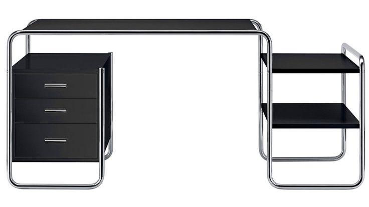 thonet s 285 schreibtisch 164 f r chefb ro einzelarbeitsplatz von thonet marcel breuer topdeq. Black Bedroom Furniture Sets. Home Design Ideas